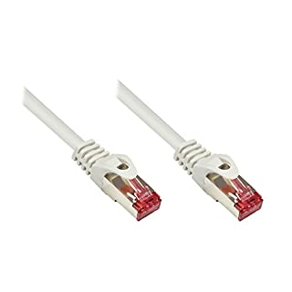 Alcasa Good Connections Cat.5e Ethernet LAN Patch Cable Snagless RNS, SF/UTP, 100 MHz; Gigabit Capable (10/100/1000 Base-T Ethernet Networking) for Patch Panel, Switch, Router, Modem grey grey 2 m