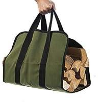 Bolsa de transporte de leña Hyindoor de lona para leña, estufa de leña, accesorios