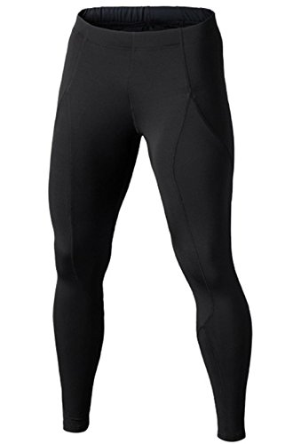 ffaa6e55fdd4e Compression Pants - Men's Tights Base Layer Leggings, Best Running/  Workout, Black, UK L_Tag XL