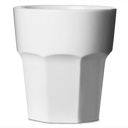 bonat Rocks Becher weiß 9oz/255ml-Set von 4| Kunststoff wiederverwendbar, praktisch unzerbrechlich Polycarbonat Kunststoff-ideal für Partys und Caterings, ()