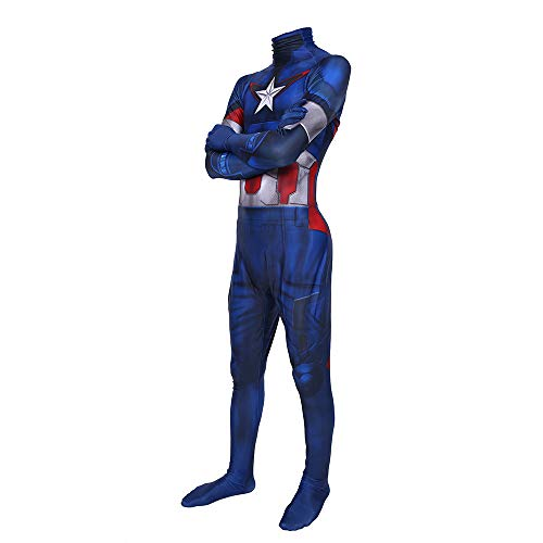 ERTSDFXA Captain America Kostüm Erwachsener Kinder The Avengers 4 Costume Halloween Unisex Weihnachten Party Spandex Jumpsuits,Adult-M(Height63-65Inch) (Captain America Kostüm Weiblich)