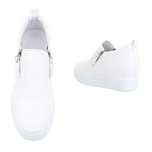 Ital-Design - Pantofole a Stivaletto Donna Weiß 6687-Y