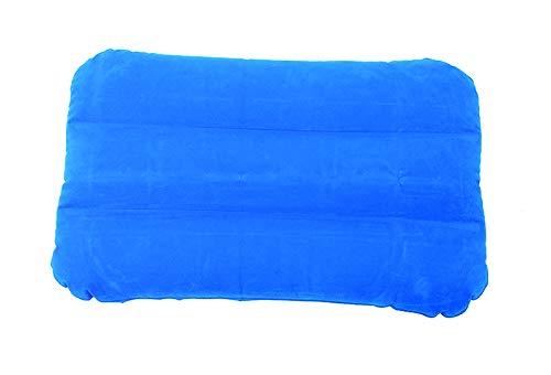 Beach Art 1634, Cuscino in PVC Floccato Unisex Adulto, Azzurro/Bianco, 50 x 34 cm