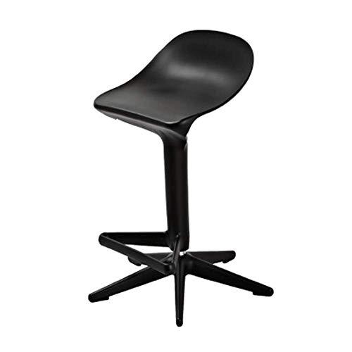 Chaise de bar en forme de cuillère à soupe, chaise de bar élévatrice en rotation, tabouret haut, chaise en barre de café simple, chaise en matériau PP, couleur du matériau voir détails-1