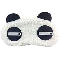 Lumanuby. Máscara de Ojos Sueño Antifaz de Viaje para Dormir de Peluche PandaGafas de Blackout para Hombres y Mujeres Viajes,19 * 12cm
