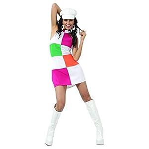 Reír Y Confeti - Fibdis016 - Disfraz Para Adultos - Sixties Disco Disfraces - Mujer - Talla M