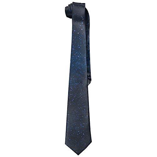 Missyou567 Bright Stars Blue Sky Men's Wide Colorful Neckties Ties One Size Sky Blue Mens Tie