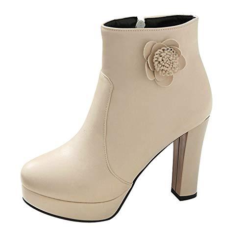 buy online 68753 fe8e6 chaussures femme Bottes Bottines Bottines en Cuir à la Mode Femmes Bottes  Simples Décontractées Chaussures 5CM