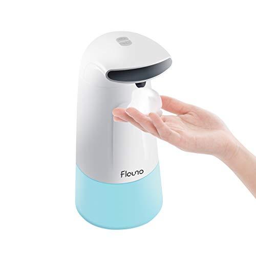 Flauno Dispensador de Jabón Eléctrico, Dispensador de Jabón Automático en Espuma con Sensor de Movimiento Infrarrojo, Ideal para Cocina y Baño (300ML)