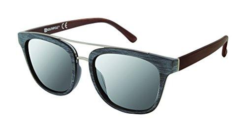 Southpole Men's 5000sp Oxwd Non-Polarized Iridium Aviator Sunglasses, Black Wood, 60 mm