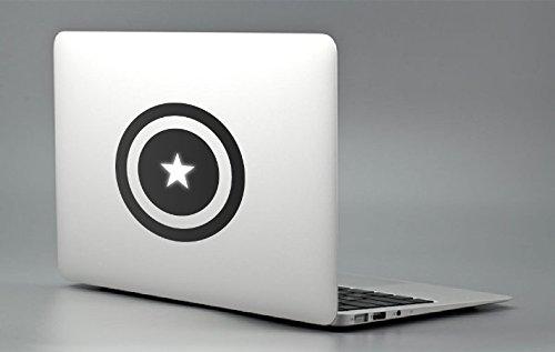 Just Go Online Captain America Aufkleber Captain America (Captain America America) für Laptop, Apple, MacBook. Aufkleber für Apple Mac Pro Air Retina 11,13,15 und 17 Zoll Vatertag