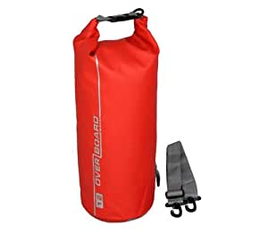 Over Board Waterproof Bag Travel/Beach - Red, 12 Litres
