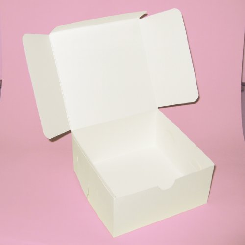 white cake boxes 6inch x 6 inch x 3 inch high quality (10)