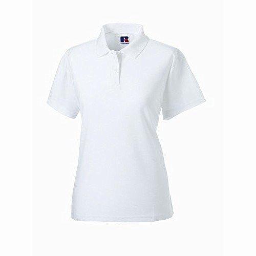 Polo à manches courtes Jerzees Colours pour femme Blanc