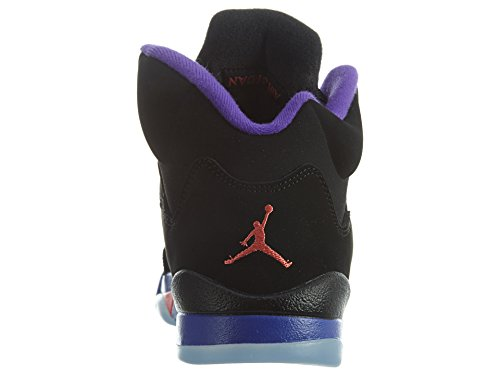 Nike Damen Air Jordan 5 Retro Gg Basketballschuhe Black (Schwarz / Ember Glow-Fierce Purple)