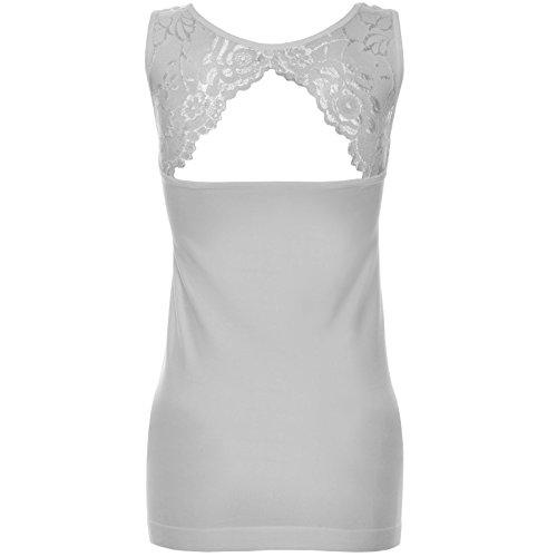BEZLIT - T-shirt de sport - Body chemise - Uni - Sans Manche - Femme Weiß
