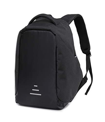 Antifurto zaino per laptop università zaino da 15.6 pollici zaino porta carica usb zaino per pc zaino business, viaggio, attività (nero_1)