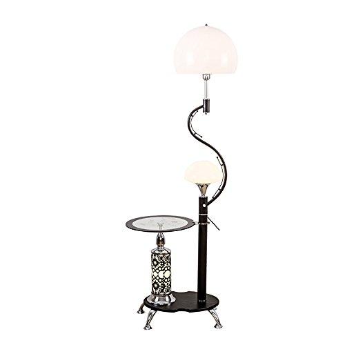 MMM- Einfache Moderne Stil Eisen Lampe Körper Acryl Lampenschirm E27 * 2 Fußschalter Mit Couchtisch Schwarz Weiß Stehlampe (30 * 166 cm) ( Farbe : Schwarz ) Eisen-couchtisch