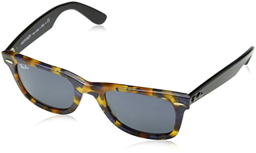 Ray-Ban MOD. 2140 Occhiali da Sole, Unisex Adulto, Multicolore (SPOTTED BLUE HAVANA), 50 mm