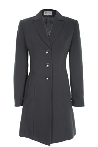Busy-Clothing-Womens-Black-Long-Suit-Jacket