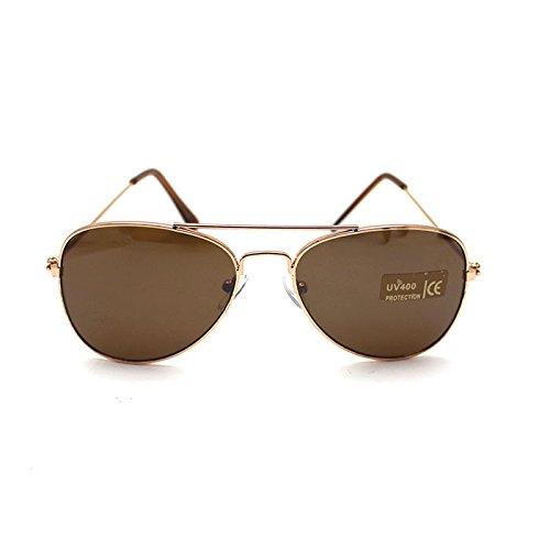 HuntGold Weinlese Frosch Augen Art Baby Kinder Jungen Mädchen UV400 Schutz Sonnenbrillen (braun)