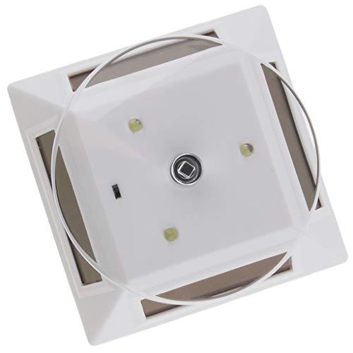 F Fityle Schmuck Display Ständer LED Beleuchtete Drehständer Drehscheibe drehbar Display-Ständer Schmuck Anzeigen Ständer - Silber (Schmuck-display-silber)