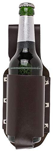 OOTB Gürtel-Flaschenhalter Bier Kunstleder Braun 23cm