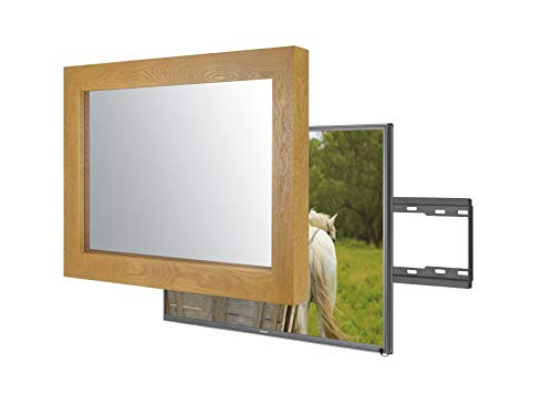 Handmade Framed Mirror TV with Samsung to Blend This Hidden Mirrored Television into Your Home or Business Decor (49 Inch, Flatenium Original)