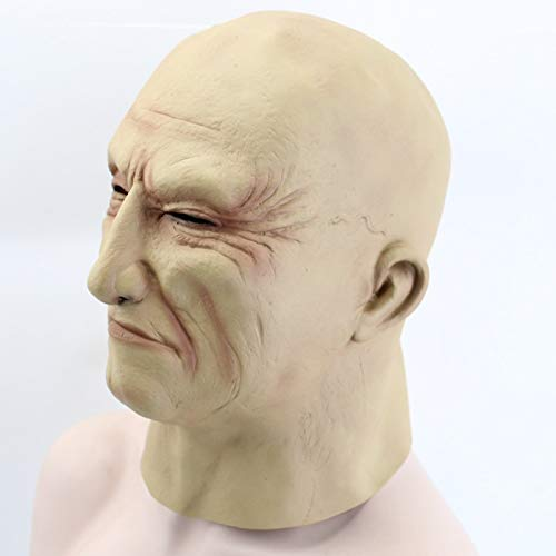 Gnhyll Realist Latex Old Man Maske Männliche Scheitung Halloween Fancy Dress Head Rubber Adult Party Masquerade Cosplay Props