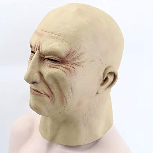Dodom Realistische Latex Alter Mann Maske Männliche Verkleidung Halloween Kostüm Kopf Gummi Erwachsene Partei Masken Maskerade Cosplay Requisiten (Männliche Einfach Halloween-kostüme Super)