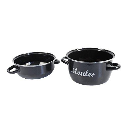 Crealys 508296 Marmite, Acier, Noir, 20,5 x 26 x 18 cm