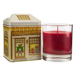 Colony Candles Village Bakery Tin with Wax-filled Cinnamon Cupcakes Scented