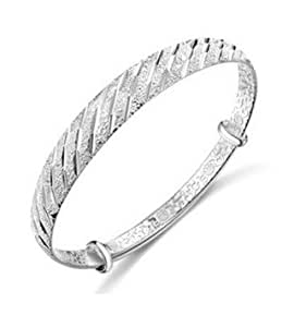 JMT 1 PCS 925 Sterling Silver Fashion meteor showers jewelry bangle bracelet Best gift for Woman lady