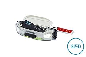 SLED - die Stirn-Lampe für Schlitten und Rodel, mit RGB LED, Akku aufladbar...