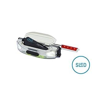 SLED – die Stirn-Lampe für Schlitten und Rodel, mit RGB LED, Akku aufladbar mit USB, 400 Lumen, wasserdicht, passt auf Kathrein Torggler Gasser Fluckinger Gallzeiner Sirch Ress Rijo