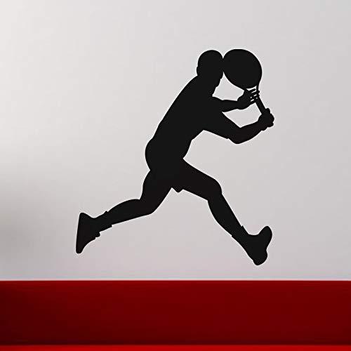 fenshop Wandaufkleber Sport Für Gym Die Neuesten Trends Laufen Tennisspieler Wandkunst Aufkleber Für Jungen Room Removable Wallpaper 58x61 cm