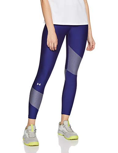 Under Armour Damen HG Armour Graphic Ankle Crop Capris and Crops, Formation Blue, XS -