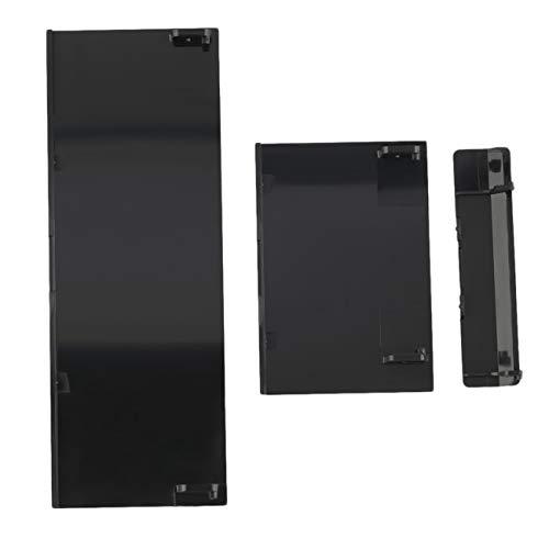 Jiobapiongxin Ersatz-Speicherkarten-Türschlitzdeckel Memeory-Kartenabdeckung 3 Teile Türabdeckungen für Nintendo für Wii-Konsole Schwarz JBP-X