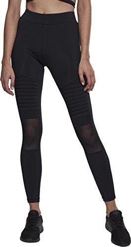 Urban Classics Damen Ladies Tech Mesh Biker Leggings, Schwarz (Black 00007), 40 (Herstellergröße: L)