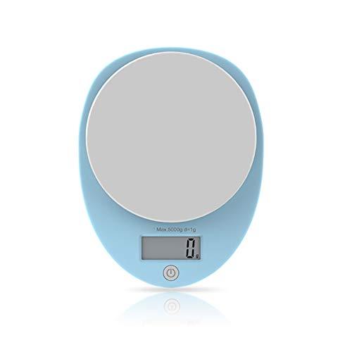 Edelstahl Küche Backen Lebensmittel Elektronische Waage, LCD Display Panel Genannt Medizinisches Material Wiegewerkzeug, 5 kg / 1g Präzision Mini Elektronische Waage Schmuck Waagen ( Color : Blue ) Bottom-lcd-bildschirm-anzeige