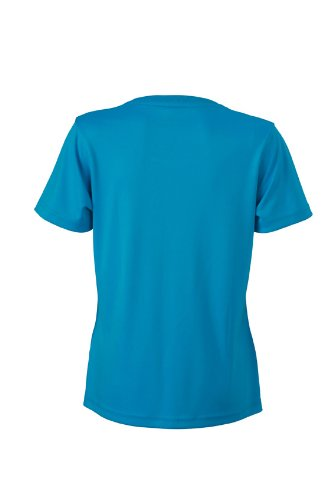 JAMES & NICHOLSON Funktions T-shirt Ladies Active - T-shirt de Maternité - Femme Turquoise (Turquoise)