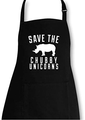 AngryShirts Save The Chubby Unicorn Grillschürze