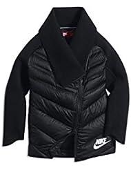 Nike G NSW TCH FLC Arolft Cape FZ M - Capa para niña, color negro, talla L