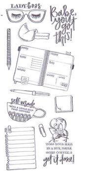 Elle Oh Elle Clear Stamps, Anime, Boss Lady, Girly Girl, Planer, Scrapbooks, Karten, Briefe -