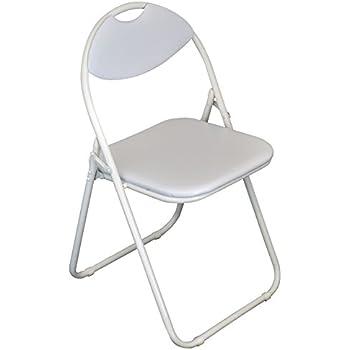 Harbour Housewares White Padded Folding Desk Chair White Frame Pack Of 1