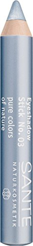 SANTE Naturkosmetik Eyeshadow Stick No. 03 blue, Lidschattenstift, Farbintensive cremige Textur, Als Eyeshadow Base einsetzbar, 3,2g