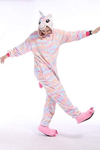 DecoBay Jumpsuit Tier Fasching Halloween Kostüm Sleepsuit Cosplay Pyjama Schlafanzug Geeignet für Männer und Frauen und Kinder (Cartoon Tag Pferd, 120)