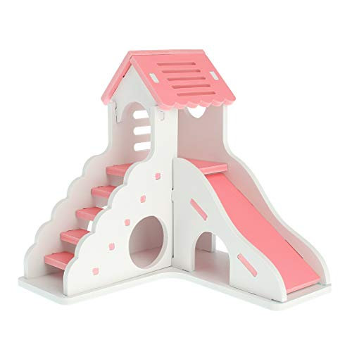 A0127 Haustier Haus Villa Doppelschicht Leiter Rutsche Spielen Lustige Geschenke Schlaf Rest Nest Spielzeug Für Hamster Eichhörnchen Chinchilla Meerschweinchen Produkte