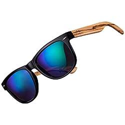 AMEXI Polarizado Gafas de Sol, Unisexo Adulto, Talla Única (Azul)