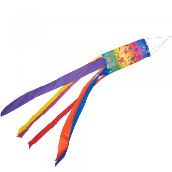 CIM Windsack - 100 Butterfly - UV-beständig und wetterfest - Ø11cm, Länge: 100cm - inkl. Kugellagerwirbelclip